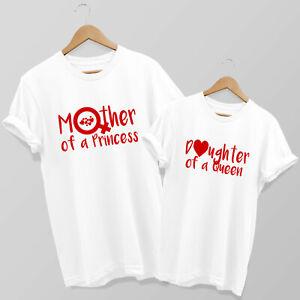 Mother of a Princess, Daughter of a Queen - Mum & Daughter matching T-shirt Set