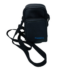 Ambico Small Camera Bag Adjustable Shoulder Strap Belt Loop Black