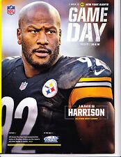Pittsburgh Steelers New York Giants Gameday Program ticket stub James Harrison