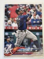 2018 Ronald Acuna Jr. #US250 Topps Update Rookie Card RC Atlanta Braves