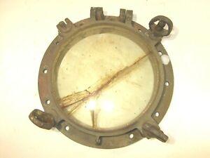 "Vintage 16"" SOLID Brass Nautical Porthole Ship 40lbs."