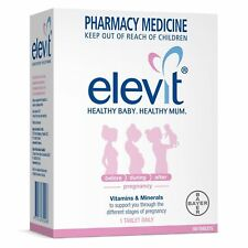 * ELEVIT WITH IODINE PREGNANCY VITAMINS & MINERALS 100 TABLETS HEALTHY STAGES