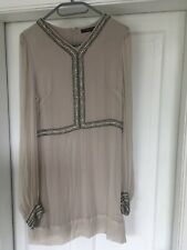 Cream Silk French Connection Dress Size 10