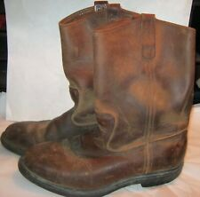Red Wing Pecos Super Sole Vintage Pull On Work Boots Mens Size 8 2E