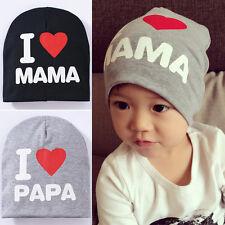 Liebe Papa Mama Baby Kinder Mädchen Hüte Wintermütze Schildmütze Gute Qualität
