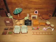 Sylvanian Families / Family Furniture Bundle / Job Lot T.v, Fireplace & More