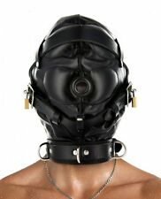Strict Leather Complete Sensory Deprivation Hood. Adjustable Laces. Lockable S/M