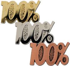 100% Award School Badge