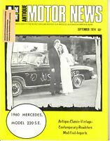 1960 Mercedes, Model 220 S.E. - AMN Antique MOTOR NEWS September 1974 Issue