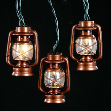 KURT S. ADLER COPPER FINISH LATERN 10 LIGHT SET NOVELTY CHRISTMAS LIGHTS