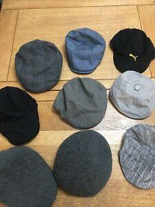 Job Lot/ Bundle men's flat caps x 9