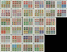 United Nations Flags Series Un Countries Sheets Postage Stamp Collection Mint Nh