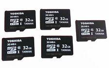 5 x Genuine NEW Toshiba 32GB Micro SD Card Class 10 SDHC-1 Flash Memory 30 MB/S