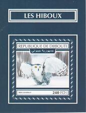 Djibouti 7518 - 2017  BIRDS -  OWLS imperf deluxe sheet unmounted mint