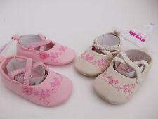 Bebé Niña Zapatos De Lona en Rosa O Marfil 6-9,9-12 &12-15 meses