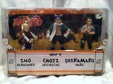 NARUTO Mattel Shonen Jump SQUAD 10 Battle Set 3-Pack INO, CHOJI, & SHIKAMARU