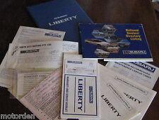 Subaru LIBERTY hard cover vinyl glove box wallet & service booklets! FREE POST