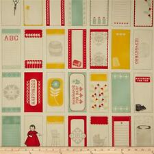 Moda Eric & Julie Comstock Baby Jane Panel of Quilt Label Tags 37060-11 Fabric