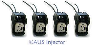Set of 4 Fuel Injector Connector Pigtails fit Bosch EV6 / EV14 USCAR [EV6F-4]