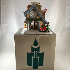 NEW PartyLite Santa's Workshop Tealight House P0269
