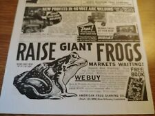 JULY 1937 MAGAZINE PAGE #A334- AMERICAN FROG CANNING CO., NEW ORLEANS, LOUISIANA