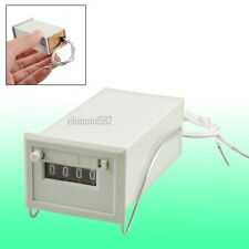 New AC 110V CSK4-DKW 4 Digits Totalizer Electromagnetic Pulse Counter