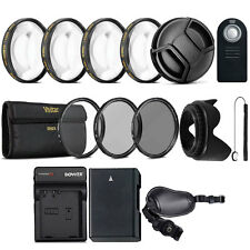 52mm Lens Accessory Kit with Replacement EN-EL14 Battery for Nikon DSLR Camera