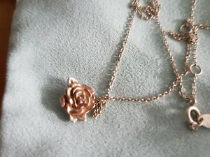 chamilia necklace beauty and beast rose gold