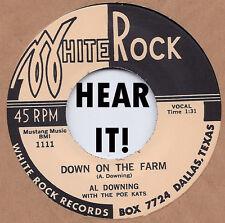 R&B/BLUES REPRO: BIG AL DOWNING - Down On The Farm/Oh! Babe WHITE ROCK