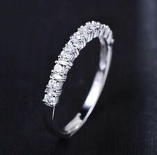 Cubic Zirconia Silver Plated Eternity Round Costume Rings