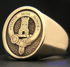 CUSTOM ENGRAVED FAMILY CREST SIGNET RING SOLID 9KT GOLD L 17MM X 14MM BY JOLLER