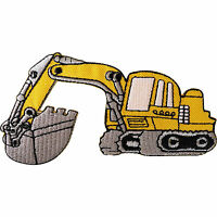 Bucket Digger Patch Iron Sew On Embroidered Builder Excavator Badge Kids Crafts