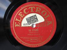 78rpm PABLO CASALS (CELLO): Le Cygne & Moment Musical - GERMAN ELECTROLA