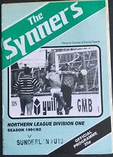More details for billingham synthonia v sunderland u18 1991/92