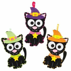 Halloween Witches Cat Decoration Sewing Craft Kit Birthday Party Gift
