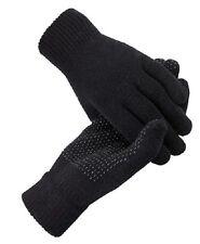 Thermal Gloves Men's Ladies Women Girl  Black Full Finger Magic Grip Gripper