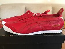 NIB ASICS ONITSUKA TIGER MEXICO 66 RETRO RED LEATHER SIZE 11.5 DELUXE RARE HTF