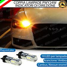 COPPIA LAMPADE LED PWY24W AUDI A4 B8 RESTYLING CANBUS 10 LED FRECCE ANTERIORI