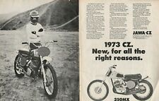 1973 CZ 250MX - 2-Page Vintage Motorcycle Ad