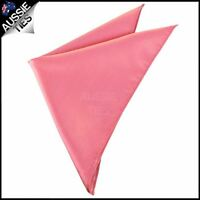 Mens Dark Coral Salmon Melon Pocket Square Handkerchief hanky kerchief