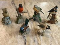 Franklin Mint Miniature Pewter Bird Figures Lot of 6 Collection 1981-1983 HTF