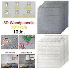 10 Tlg 3D Tapete Wandpaneele Selbstklebend Ziegel Wasserfest Wandaufkleber