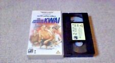 THE BRIDGE ON THE RIVER KWAI 70mm Widescreen UK PAL VHS VIDEO 1992 David Lean