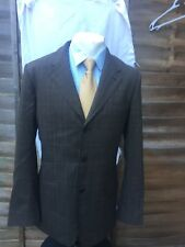 """PAUL SMITH Mens Brown Check Pattern Summer 2 PIECE SUIT Size 42"""" Chest -W 34 L34"""