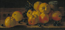 STILL life with Apples, grapes and a pot of Jam Melendez frutta mele B a3 02838