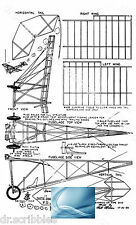 Model Airplane Full Size Printed Plan Peanut Scale DEMOISELLE & Article