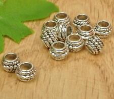 50PCS Tibetan silver big hole spacer bead charm Jewelry Making beads 8MM