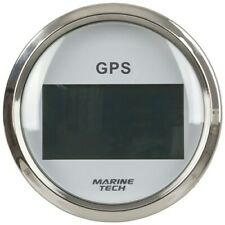 GPS Speedometer Gauge with COG 100mm White