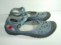 WOMENS BLUE GRAY BLACK JAMBU JBU MARY JANES SANDALS CASUAL HEELS SHOES SIZE 10 M