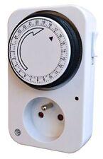 Prise Programmateur journalier Mécanique - Blanc - Tibelec 560100